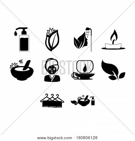 collection of spa and beauty icon vector