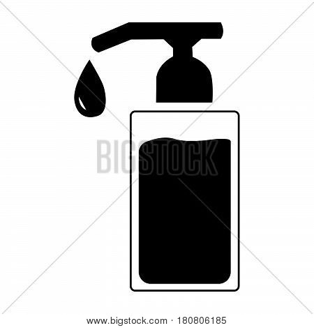 Flat Black Message Oil Icon