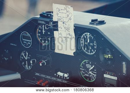 Cockpit of an brand new acrobatic airplane made for air races