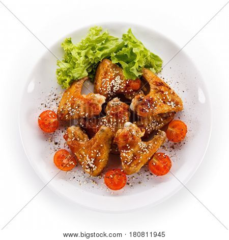 Roast chicken wings