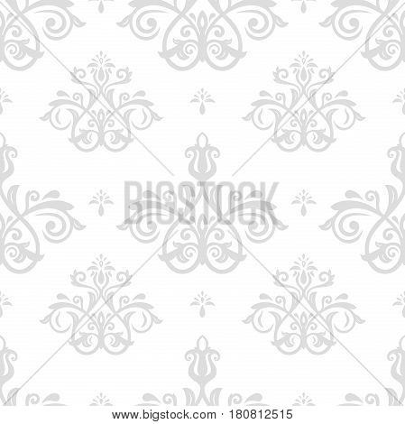 Seamless classic silver pattern. Traditional orient ornament