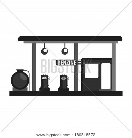Gas petroleum petrol refill station. Gasoline and oil station. Flat vector illustration isolated on a white background