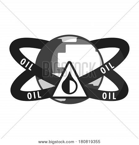Petroleum Industry symbol. Flat vector illustration isolated on a white background