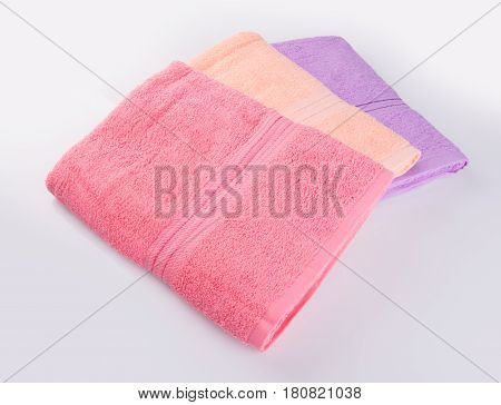 Towel Or Bath Towel On A Background.