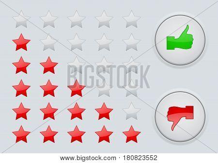 Rating stars. Interface web element. Vector illustration