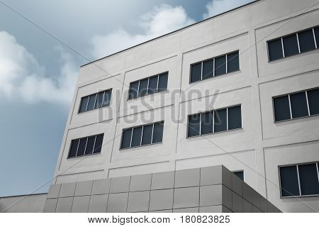 Large Office Building With Modern Corporate Architecture