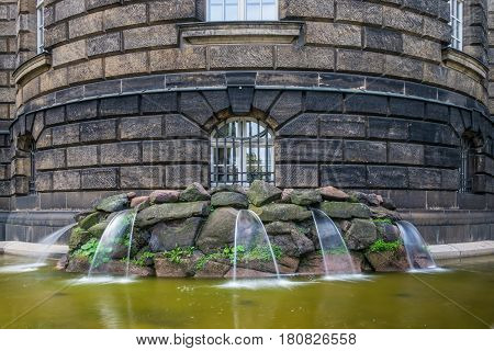 The Fountain And Waterworks In City Dresden, Germany