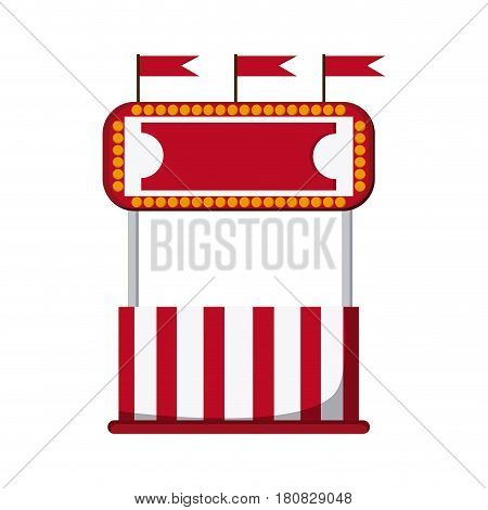 circus ticket tent icon over white background. colorful design. vector illustration