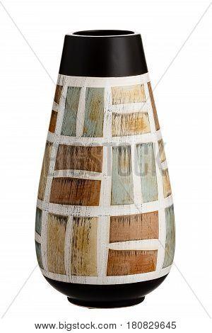 Ceramic vase, on a  isolated white background