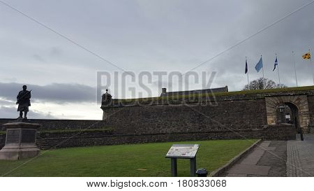 Entrance to the ancien castle in Stirling