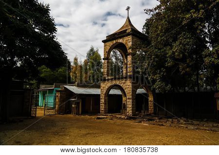 Exterior view to Teklehaimanot Church in jugol Harar Ethiopia