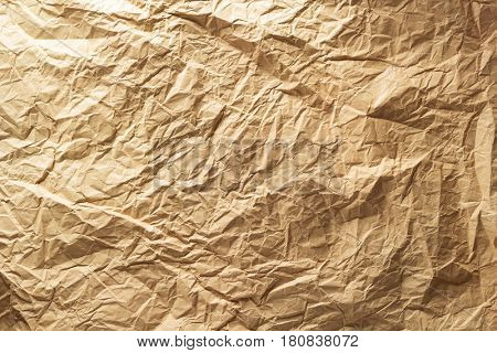 crumpled paper as background texture