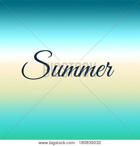 Summer blue and yellow abstract blurred smooth background. Vector illustration