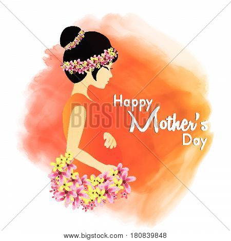 Elegant Greeting Card design with Creative Text  Happy Mother's Day celebration.