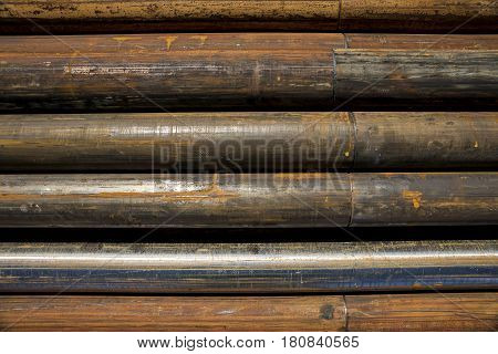Rust stell pipe for drilling in geology and mining