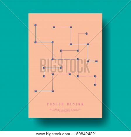 Abstract Geometric Digital Line Cover Design - Vector illustration template