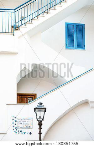 Sorrento Italy - November 15 2015: A typical house of Marina Grande