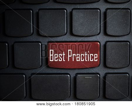 Education concept: computer keyboard with word Best Practice on enter button