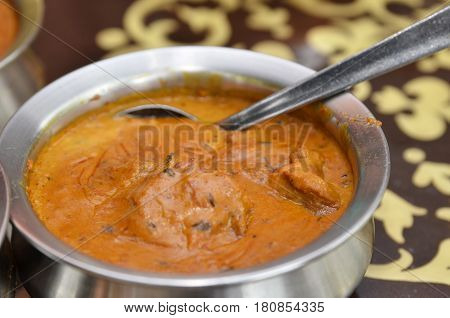 Bowl Of Indian Mutton Curry