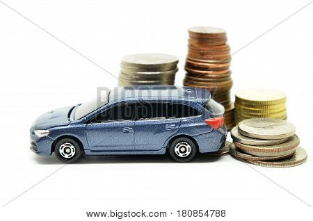 Car Finance With Money Stack