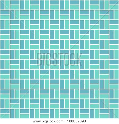 Seamless colored pattern with light blue and blue color rectangles. Zigzag or sidestep view