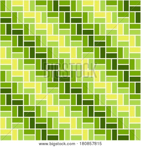 Seamless colored pattern with yellow and green color rectangles. Zigzag or sidestep view