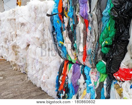 waste recycling reuse garbage disposal plastic PVC packaging prepared for recycle