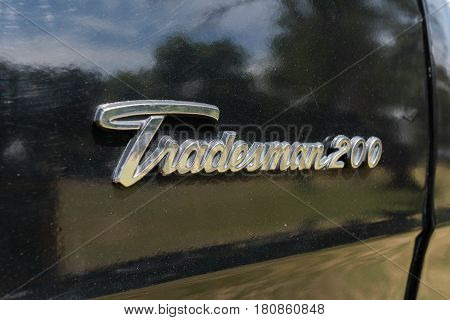 Dodge Tradesman 200 Emblem On Display