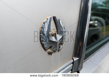 Chrysler Imperial Lebaron Emblem On Display