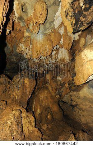 Tham Jang (Chang Cave) at Vang Vieng on Laos