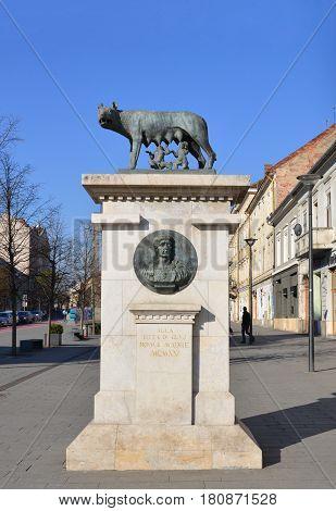 Cluj Napoca city romania she-wolf statue landmark
