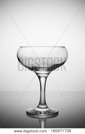 Empty Glass For Champagne Sparkling Wine