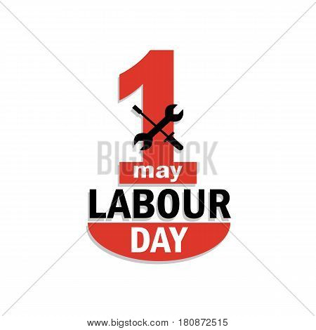 Happy 1 May Day.  Labour Day logo concept. Workers day illustration for greeting card vector