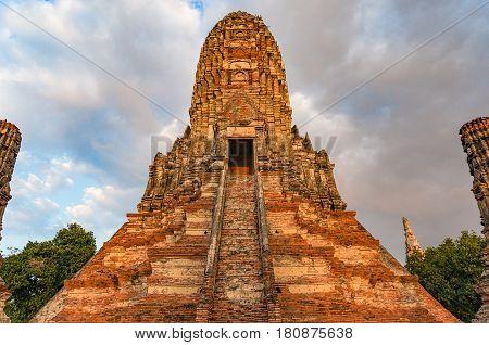 Ancient Temple Ruins. Wat Chai Wattanaram, Thailand