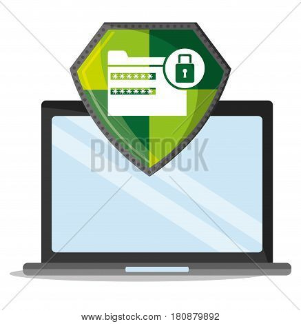 cyber security technology data password lock vector illustration eps 10