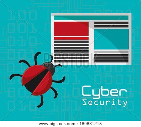 cyber security virus threat document file vector illustration eps 10