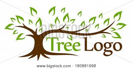 The stylized logo of a green tree.