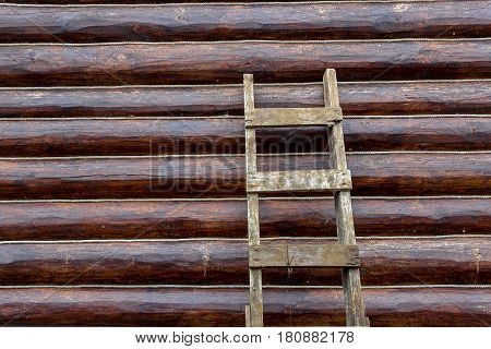 Background Textured With Logs, Ropes And Ladder