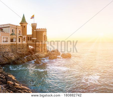 A historic castle overlooking the sea in Vina del Mar Chile
