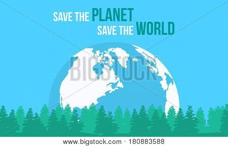 Style Earth Day vector flat collection stock