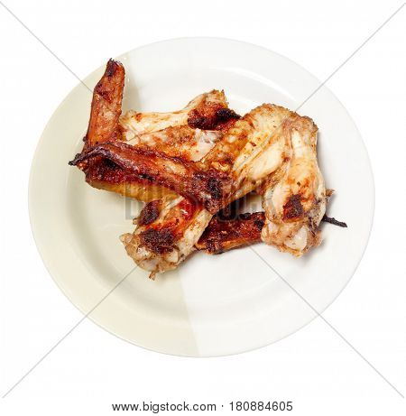 Grilled chicken wing. Chicken wings.