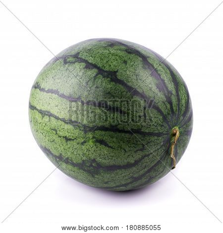 Ripe watermelon fruits on a white background.