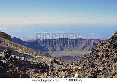 Caldera of the Teide volcano on Tenerife Canary Islands