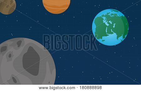 Vector flat world design style collection stock