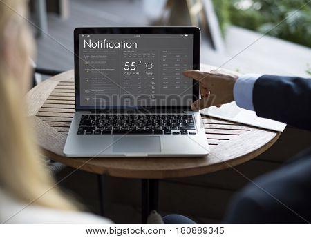 Personal organizer schedule application graphic