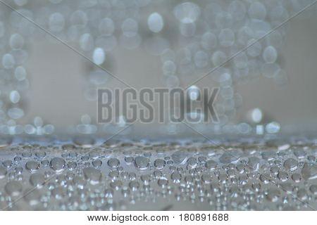 Closeup Bubbles Drops Background