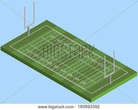 Isometric American football field in vector eps 10