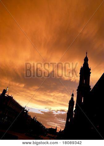 Sunset In Zaragoza
