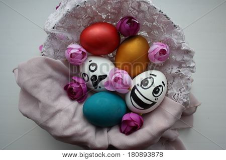Eggs With A Cute Face
