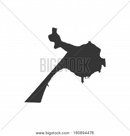 Belize City map on the white background. Vector illustration